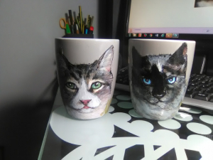Mascotas decorando mug