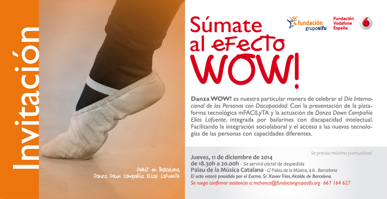 Invitacion  DANZA WOW cast